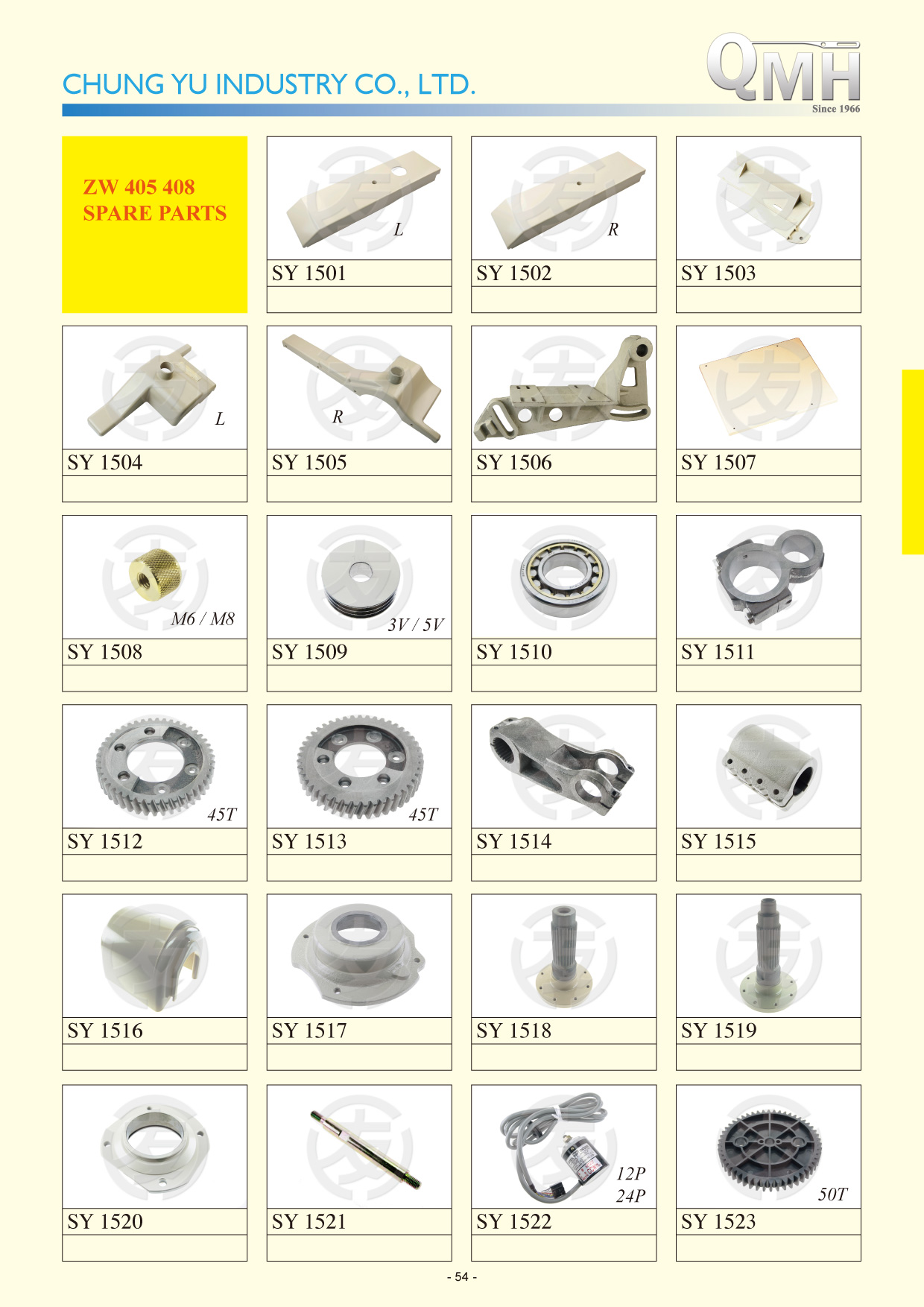 ZW 405 408 Spare Parts
